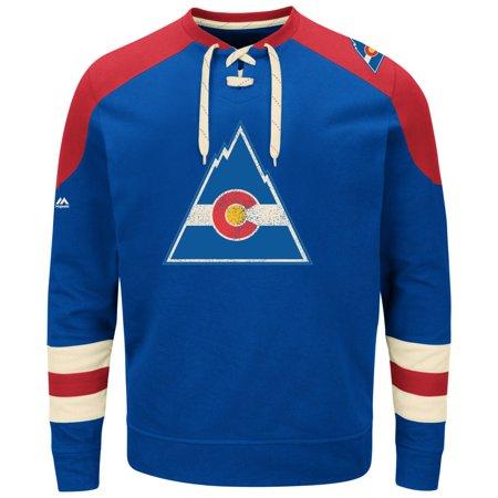 """Colorado Rockies Majestic NHL """"Vintage Centre"""" Mens Pullover Crew Sweatshirt by"""