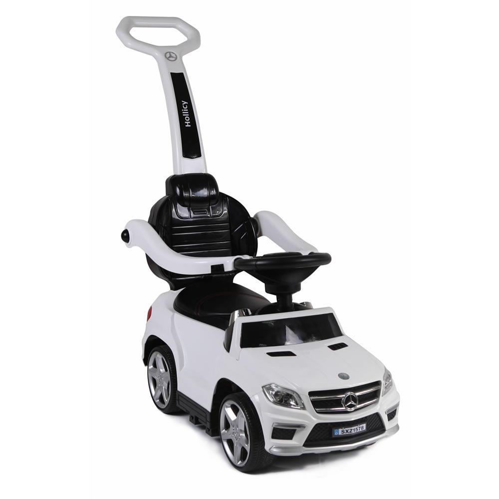 Licensed Mercedes Benz GL63 Kids Convertible Ride On Push Car - White