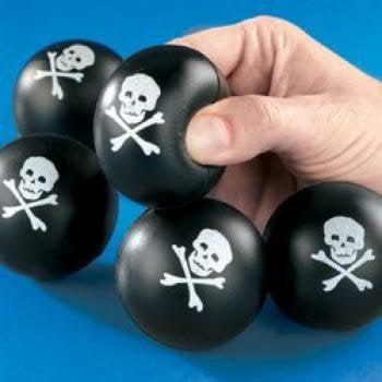 Mini Skull & Cross Bones Relaxable Balls (2 Dozen) - Bulk](Plastic Skulls Bulk)