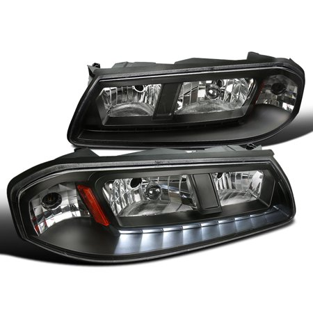 - Spec-D Tuning 2000-2005 Chevy Impala Jdm Black Clear/Crystal Lens Led Smd Headlights Pair 00 01 02 03 04 05 (Left + Right)