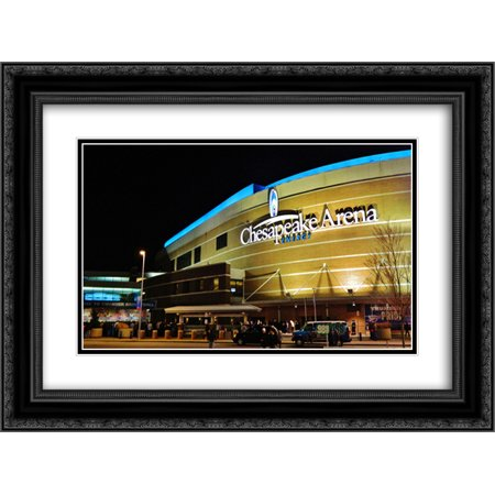 Chesapeake Energy Arena 2X Matted 24X18 Black Ornate Framed Art Print From The Stadium Series