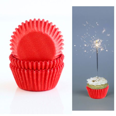 100 X Red Holiday Cupcake Liners Wrapper Cake Muffin Baking Cups Party Dessert (Holiday Cupcake Ideas)