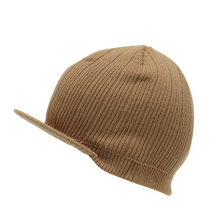 Unisex Beanie with Bill-5051B-CAMEL, Winter Beanie By MG