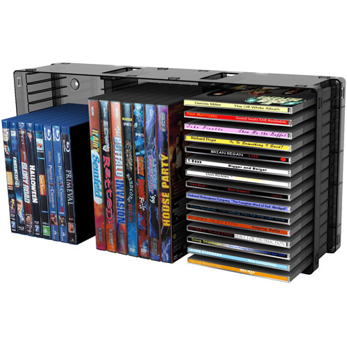 Atlantic Disc Storage Module, 45 CDs/21 DVDs, Black