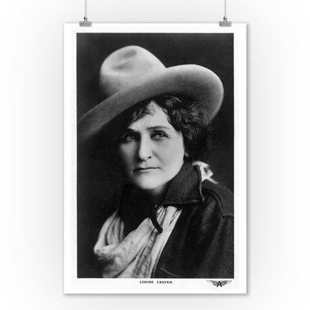 Cowgirl Portrait - Louise Lester (9x12 Art Print, Wall Decor Travel - Cowgirl Decor