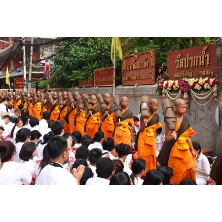 LAMINATED POSTER Orange Robes Walk Thailand Buddhists Monks Poster Print 24 x 36 - Monk Robes