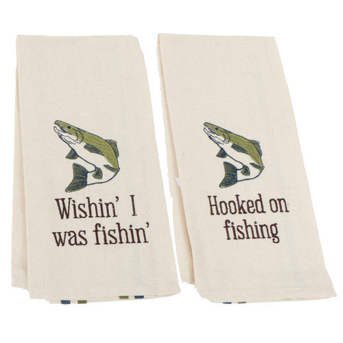 DEI Fish Dish Towel (Set of 2)