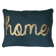 Thro by Marlo Lorenz Home Sequin Script Faux Linen Pillow