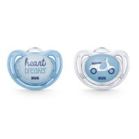 NUK Airflow Orthodontic Pacifiers, Boy, 0-6 Months, 2-Pack