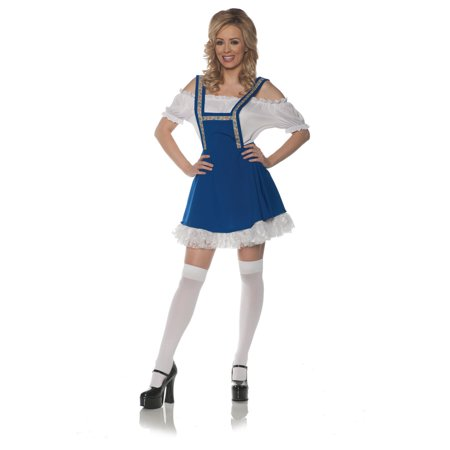 Swiss Treat Womens Adult Festive German Oktoberfest Beer Maid Costume
