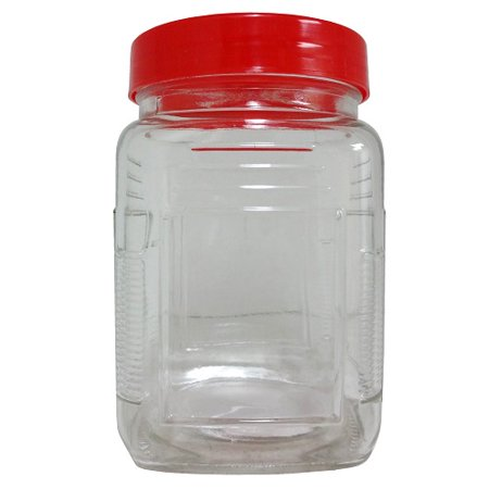 Square Glass Canister (New 823874   Glass Square Canister W- Lid (24-Pack) Others Fancy Shape Cheap Wholesale Discount Bulk Glass Vases Others Fancy Shape Rectangular)