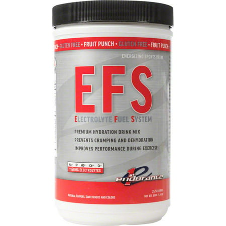 First Endurance EFS Drink Mix: Fruit Punch 25 Serving - First Need Canister