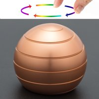 NK Decompression Flowing Finger Desktop Spherical Rotating Gyroscope,Kinetic Desk Toy Optical Illusion Toy Balls for Adult Men,Women,Kids