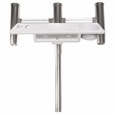 Taco Metals F31-0780BXY-1 TACO Deluxe Trident Rod Holder Cluster Straight with Tool Caddy