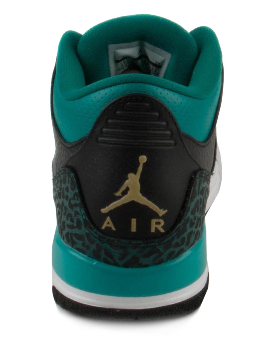 new product 42551 f5543 Nike - Nike Girls Air Jordan 3 Retro GG Black Metallic Gold-Teal 441140-018  - Walmart.com