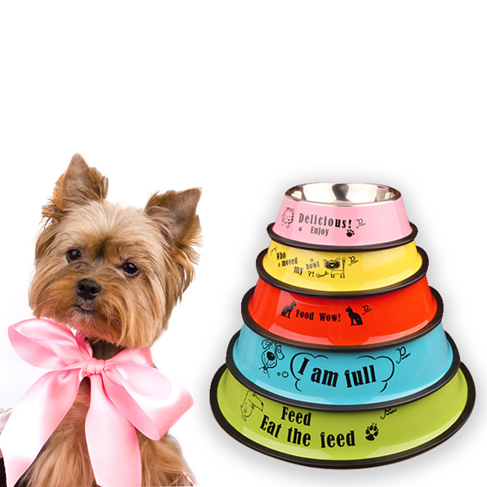 Moderna Stainless Steel Anti-skid Pet Dog Cat Food Water Bowl Pet Feeding Feeder Bowl
