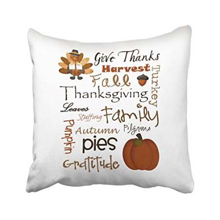 WinHome Thanksgiving Quotes Cute Turkey Pumpkin Harvest Family Gorgeous Cute Cheap Decorative Pillows