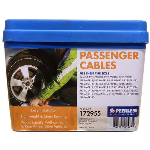 Peerless Winter Track Passenger Car Tire Cables, #172955