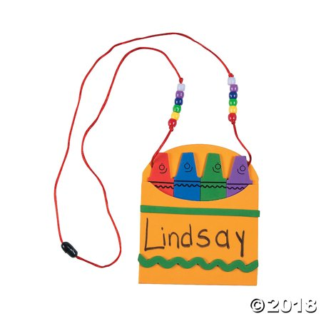 Back-To-School Name Tag Necklace Craft Kit(pack of 1)