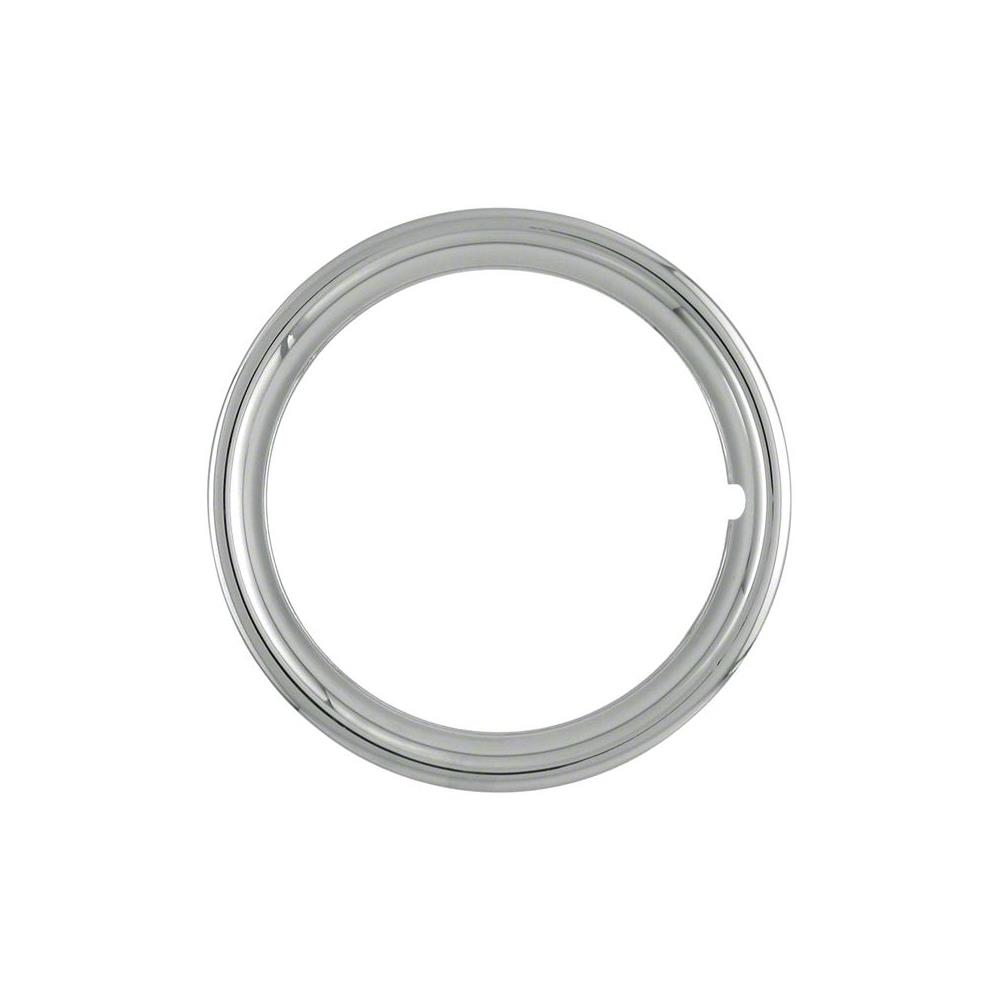 "Cci 17"" Universal Chrome Trim Rings 1 3/4"" Deep Iwc1517p"