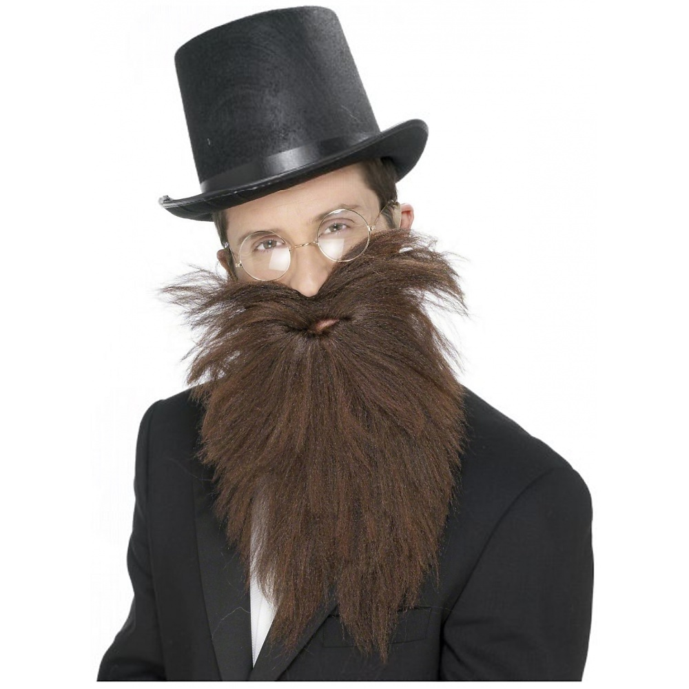 Long Beard and Tash Adult Costume Accessory Brown