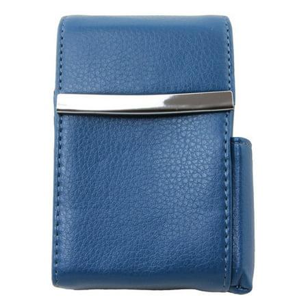 Geniune Leather Blue Fliptop Cigarette Case ()