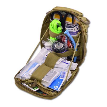 Lightning X Products Premium Nylon MOLLE Pouch Emergency Kit H, Ideal for Tactical Medics, Military, Outdoor Enthusiasts (8