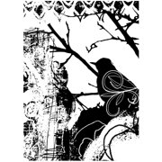 """Joggles Cling Stamp 3.25""""X4.5""""-Bird Collage"""