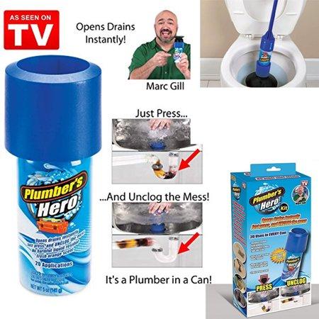 drains hero unclog tv plunger seen kit toilet shower plumbers flushing instantly plumber walmart amazon