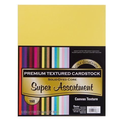 Cardstk Valuepack Super Asst 65Lbtextured 8.5X11 160Pk