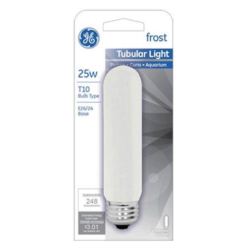 45513 25-Watt 248-Lumen Specialty T10 Incandescent Light Bulb, White, Ship from USA, Brand GE Lighting by