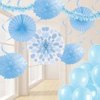 Pastel Blue Party Decorations Kit, 32 pcs
