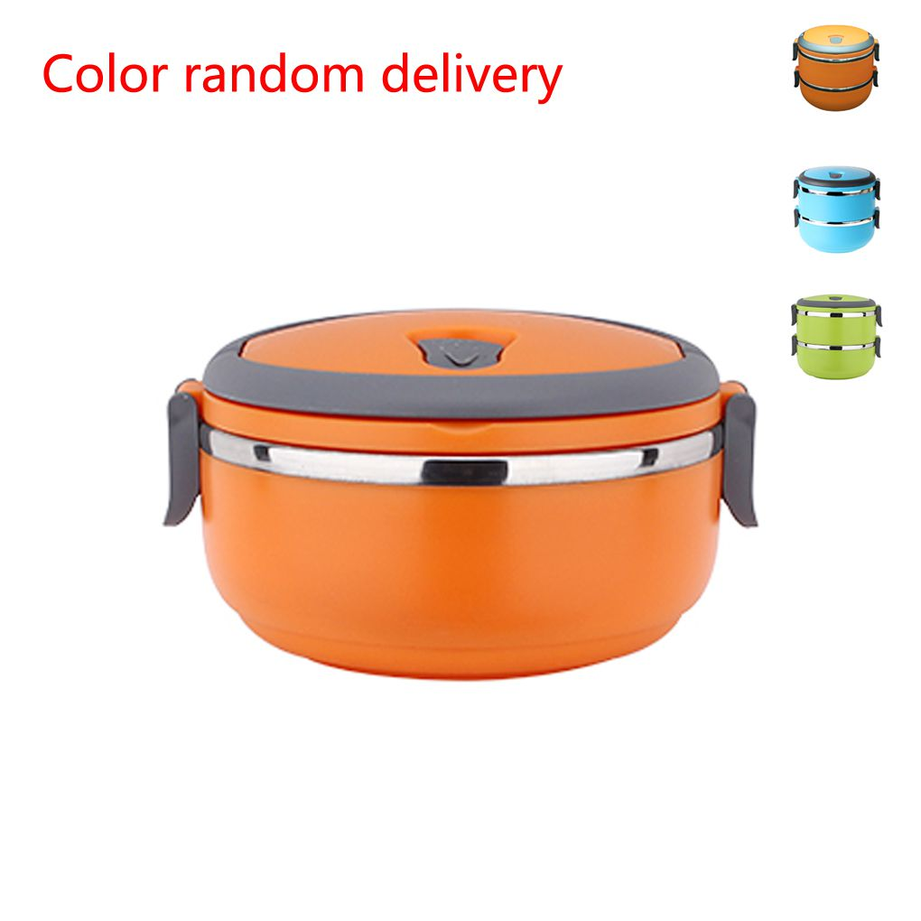 Layer Stainless Steel Insulation Boxes Lunch Box(Random Color)