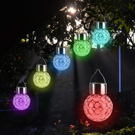 Beinhome solar lights hanging outdoor hanging decorative globe beinhome solar lights hanging outdoor hanging decorative globe light auto color changing led ball lantern aloadofball Images