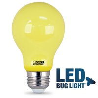 Feit Electric Yellow A19 Non-Dimmable LED Bug Light Bulb