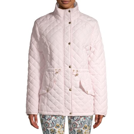 Jason Maxwell Women's Quilted Anorak Jacket Rose Pink Jacket