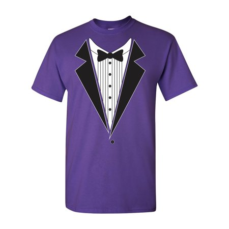 Tuxedo Bow Tie Adult DT T-Shirt Tee