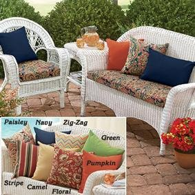 Weather Resistant Paisleybench Cushion