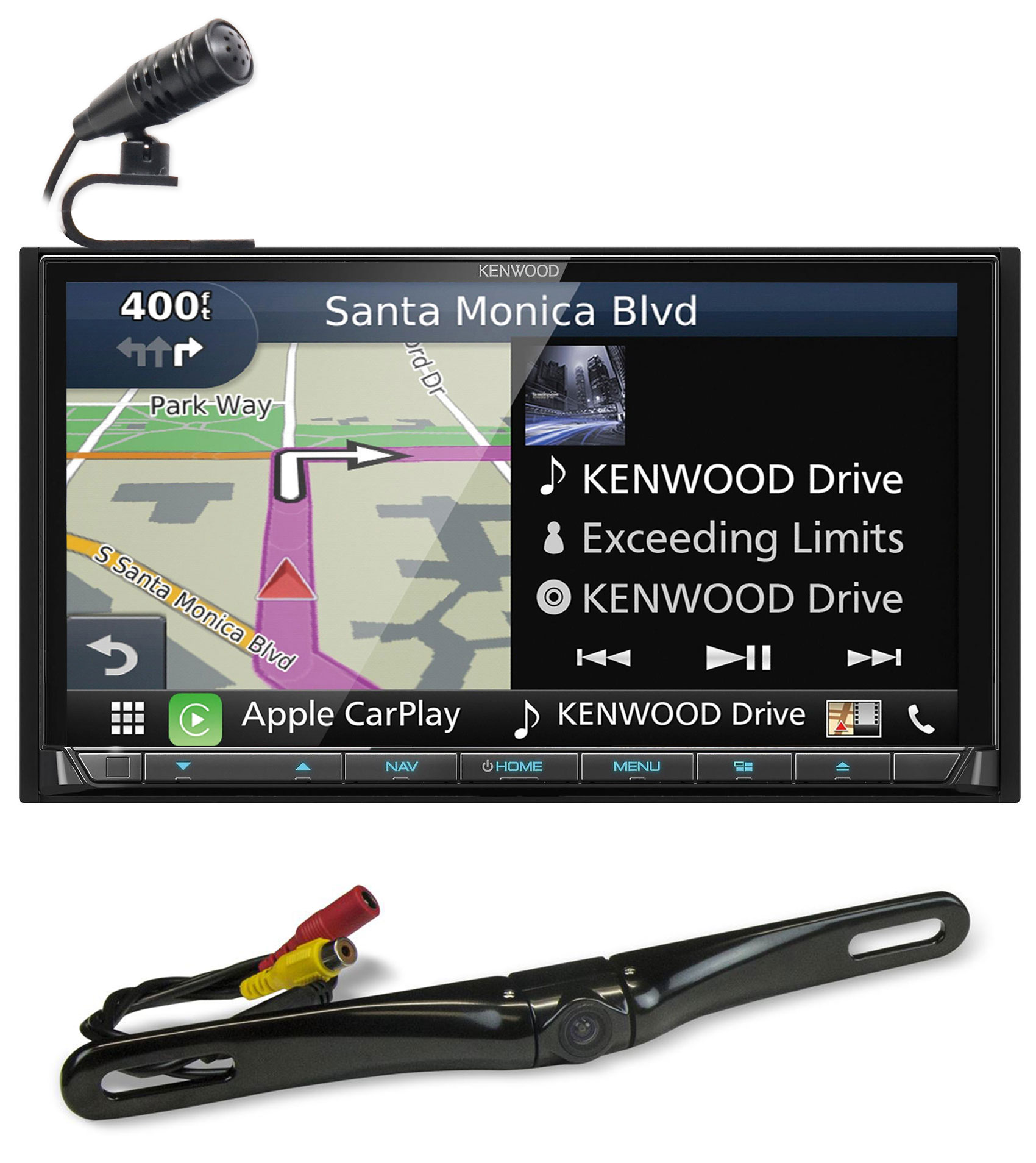 """Kenwood DNX874S 6.95"""" Navigation DVD Bluetooth Receiver Car Play/Android+Camera"""