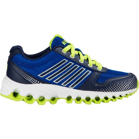 K-Swiss Men's X-160 Varsity Low Classic Blue / Navy Lime Green Ankle-High Running Shoe -