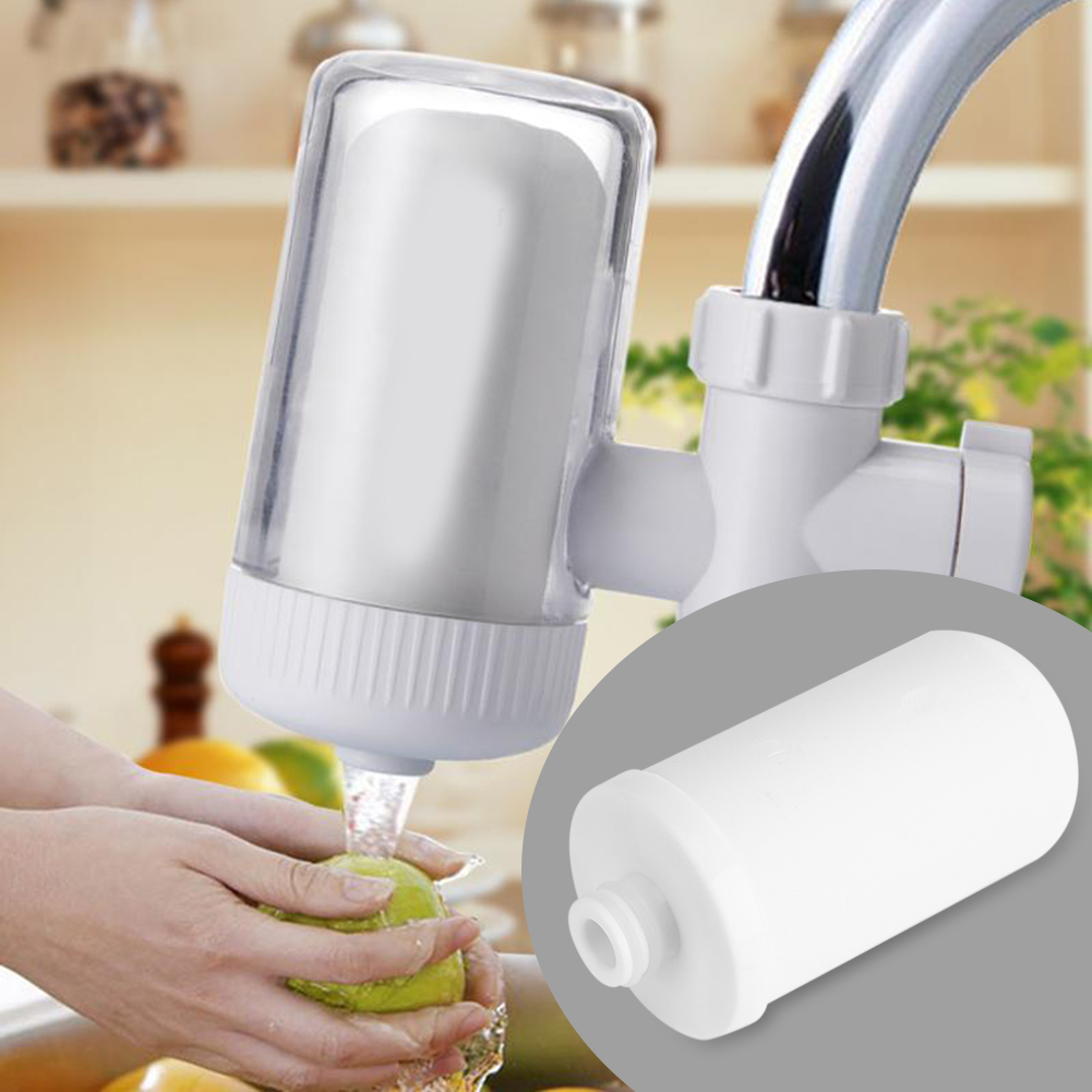WALFRONT Water Filter Tap Faucet Water Cartridge Faucet Replacement Element Kitchen Purifier Home,Replacement Ceramic Filter Cartridge, Tap Faucet Water Purifier
