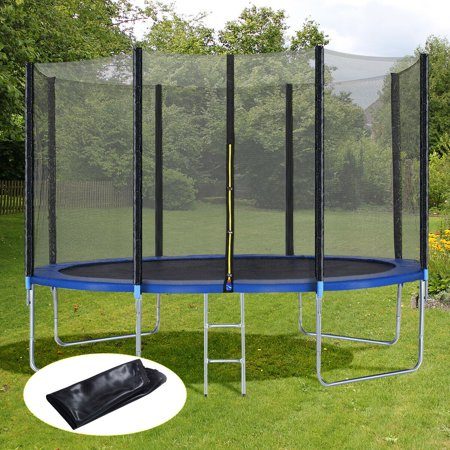 12FT Trampoline Combo Bounce Jump Safety Enclosure Net W/Spring Pad Ladder - image 7 of 10