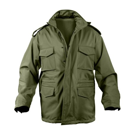 Rothco Soft Shell Tactical M-65 Field Jacket, Military Style, Olive Drab