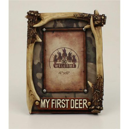 M&F Western 94489 My 1st Deer Antler Picture Frame - 4 x 6 in.](My First Halloween Frame)