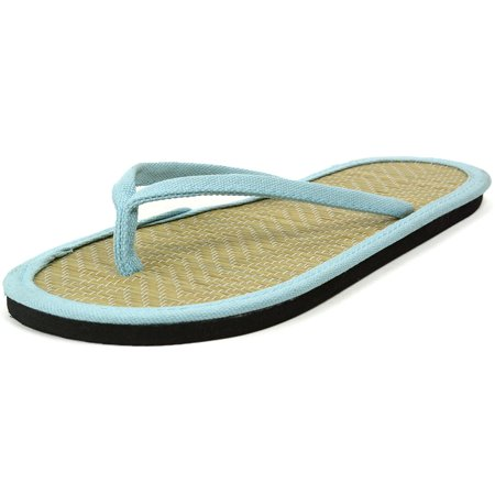b5e617b87 Womens Bamboo Sandal Flip Flops Light Flats Beach Summer Shoe Comfort  Thongs New