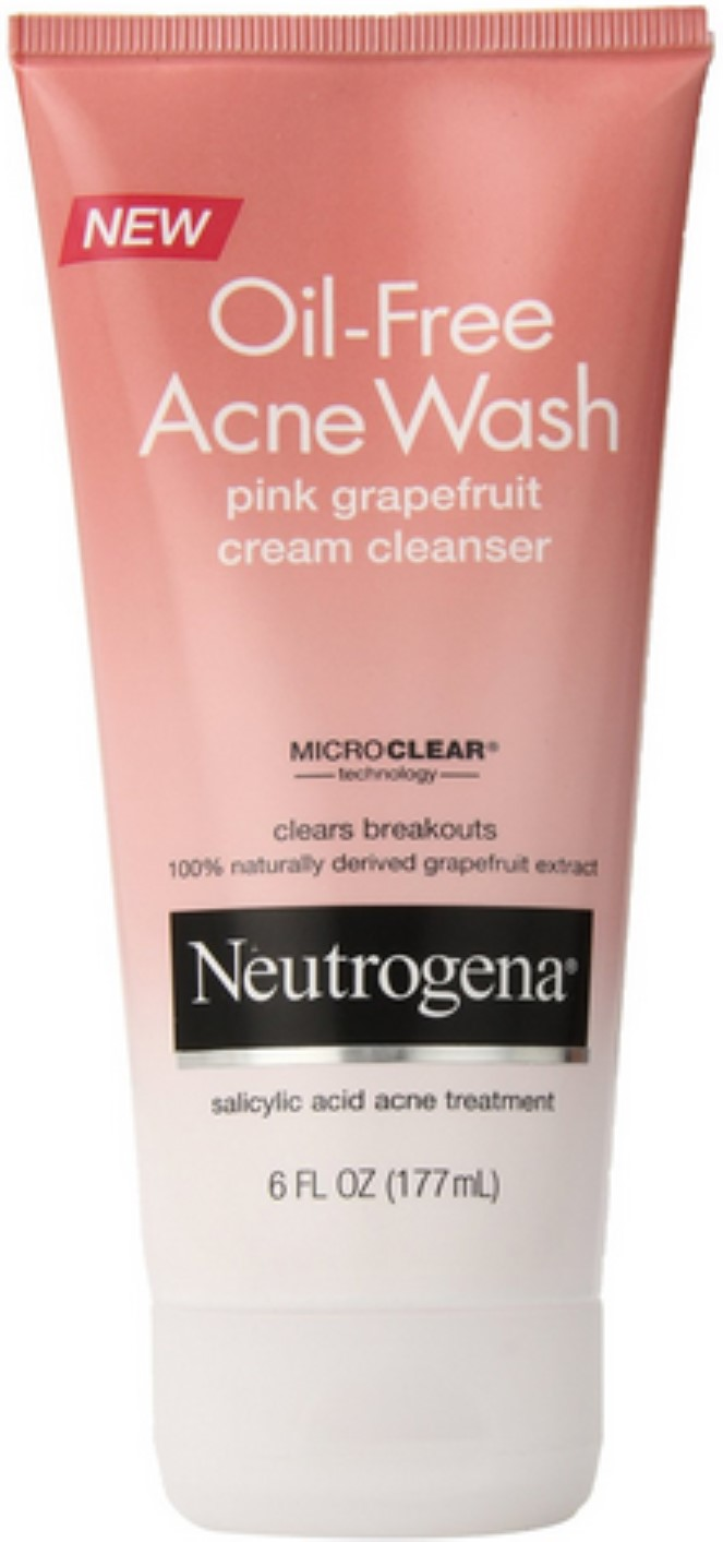 Neutrogena Oil-Free Acne Wash Cream Cleanser, Pink Grapefruit 6 oz (Pack of 6) Fast Fix Facial Sheet Mask Anti-Acne Papaya - 1 Count by Alba Botanica (pack of 4)