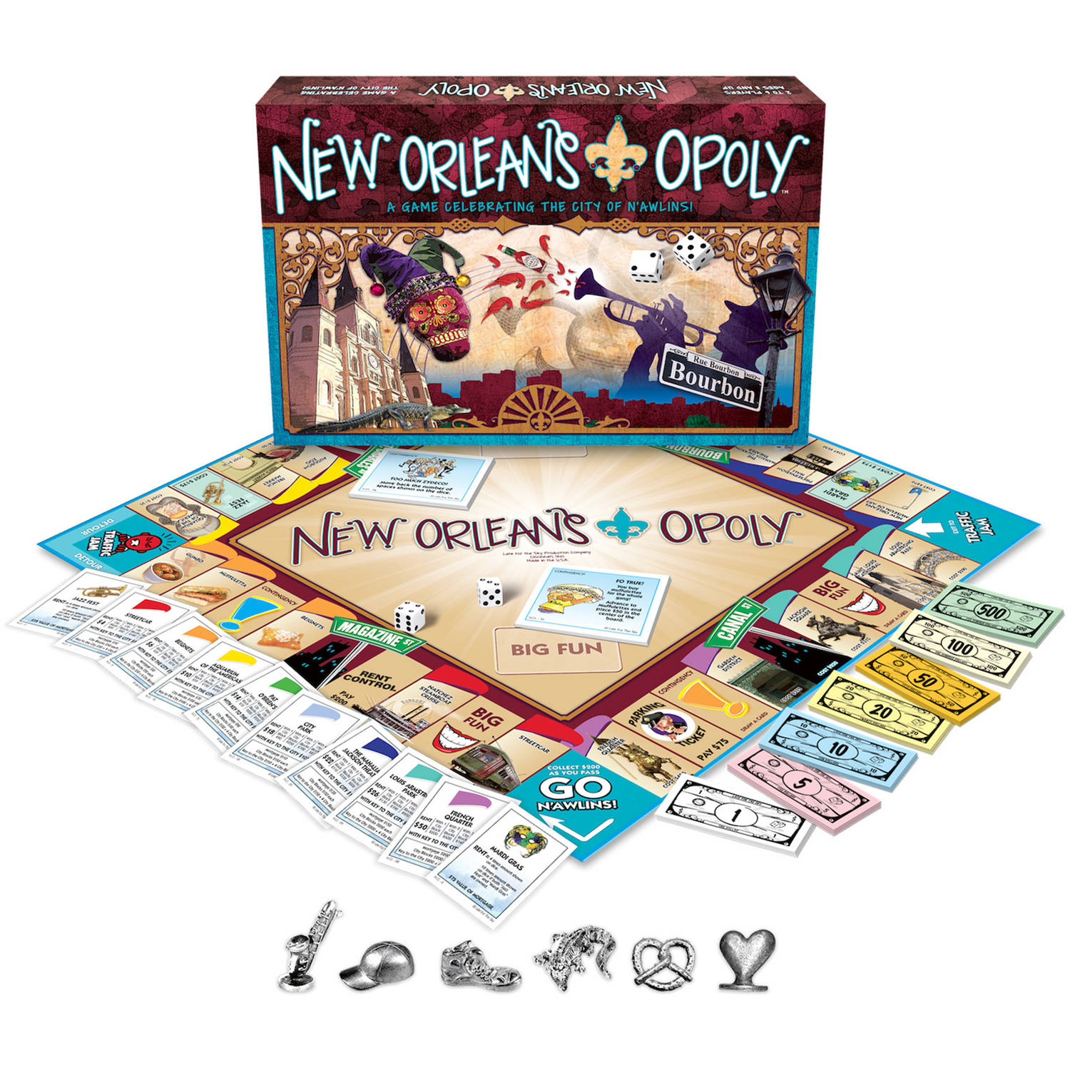 Late for the Sky New Orleans-opoly Game