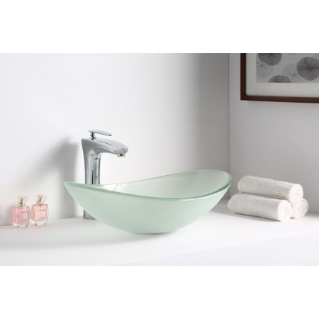 Anzzi LS-AZ086 forza Series Deco-Glass Vessel Sink in Lustrous Frosted Finish - image 3 of 5