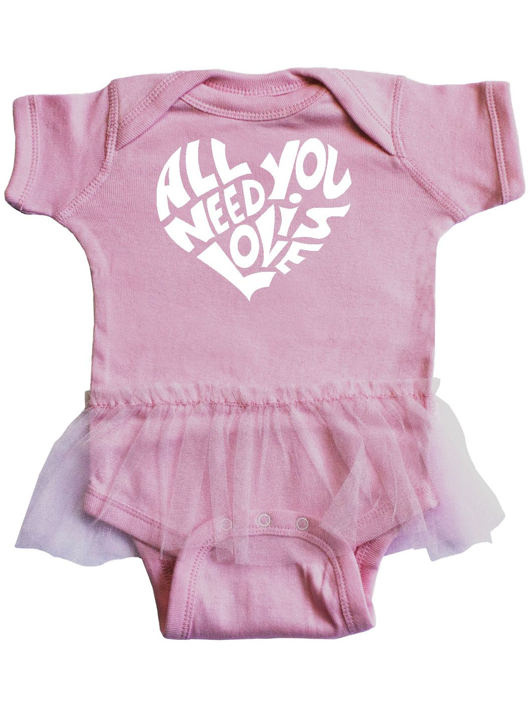 inktastic Cute Ferret Heart Infant Tutu Bodysuit