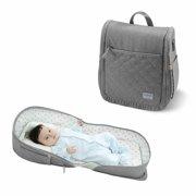 SUNVENO Portable Folding Baby Bassinet (GREEN)